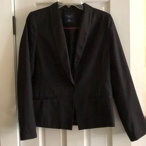 Black blazer with single front button